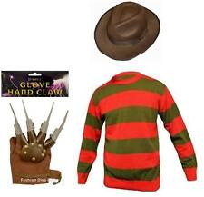 Halloween Men's Freddy Krueger Costume Includes Jumper Hat and Claw Glove