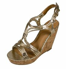 JILLIAN! Delicious Women's Slingback Peep Toe Platform Heel Cork Wedge Sandals