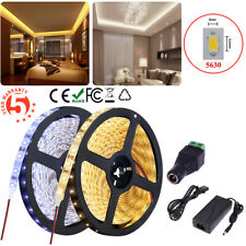 5630 SMD Waterproof 5M 10M 15M White LED Flexible Strip Light / Adapter / DC