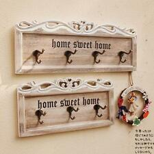 Retro Shabby Wood Wall Hook Hanger Sweet Home Decor Clothes Hat Bag Hanger