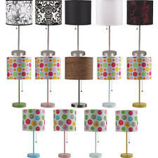 Modern Floral Polka Dots Smiley Shade Bright Room Lighting Fixture Table Lamps