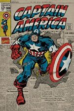 New Marvel Comics A True Marvel Hero Captain America Poster