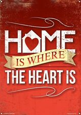Home Is Where The Heart Is Tin Sign 30.5x40.7cm