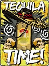 Tequila Time Tin Sign 30.5x40.7cm
