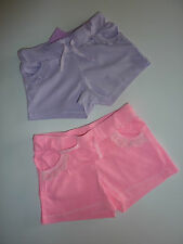 2 Pairs Really Cute Little Girls Pink and Purple Shorts NWT