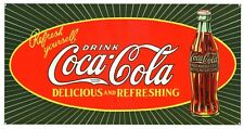 New Coke Refresh Yourself! Drink Coca Cola Metal Tin Sign