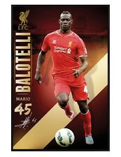 Liverpool Football Club Gloss Black Framed Mario Balotelli Maxi Poster 61x91.5cm