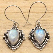 925 Silver Plated RAINBOW MOONSTONE & Other Gems, Fashion Earrings Jewelry NEW