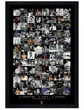 Muhammad Ali Black Wooden Framed Boxing Legend Compilation Poster 61x91.5cm