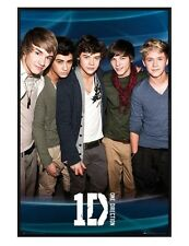 One Direction Gloss Black Framed Zayn Louis Harry Liam & Niall Poster 61x91.5cm