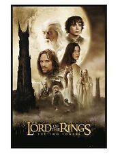 The Lord of the Rings Gloss Black Framed Two Towers LotR Maxi Poster 61x91.5cm