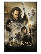 The Lord of the Rings Gloss Black Framed Return of the King Poster 61x91.5cm