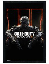 Call of Duty Black Ops 3 Black Wooden Framed Cover COD Maxi Poster 61x91.5cm