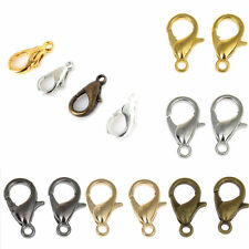 50pcs Silver Gold Bronze Copper Plated Lobster Claw Clasp Hooks Finding DIY 10mm