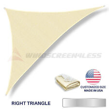 Right Triangle Sun Shade Sail UV Top Cover Patio Pool Awning Canopy Beige / Blue