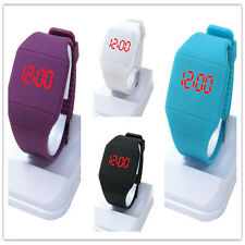 Fashion Women Men Kids Candy Jelly Silicone LED Digital Sport Touch Watches GS