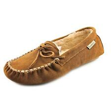 Bearpaw Ashlynn Women  Moc Toe Suede Brown Slipper