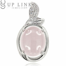 UP LINK Blue Chalcedony/Rose Quartz/Moonstone 925 Sterling Silver Beauty Pendant