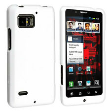 Coated Hard Plastic Front and Back Case Cover for Motorola Droid Bionic XT875
