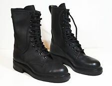 NEW Addison Army Leather Combat Boots Black Steel Toe - Mens 6W