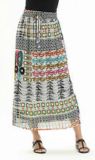 ex Manzella Aztec Print Maxi Skirt - Plus Size Maxi Skirt with Beads