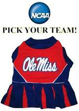 NCAA Dog Cheerleader Outfit *PICK YOUR TEAM * College Football Pet Dress Costume