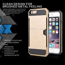 PC Hard Shockproof Credit Card Holder Wallet Case Cover For iPhone 6 6Plus Plus