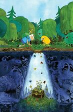 Adventure Time - With Finn & Jake Fabric Art Cloth Poster 20 x 13