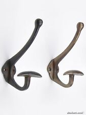 Antique Metal Coat Hooks, Vintage Metal Coat Hooks, Aged Coat Hooks, Cast Iron C