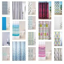 Modern Bathroom Shower Curtain Luxury Designer Range With Ring Hooks New