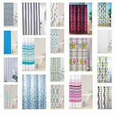 Modern Bathroom Shower Curtain Luxury Designer Range With Anneau Hooks New