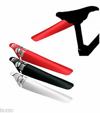 Velox Rear Fender Clip On Under Saddle Mudguard In Red Black White MTB and Road
