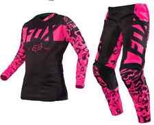 14980-14981-285 Fox Womens Pink Blk Jersey &  Pant Combo Motorcycle MX ATV