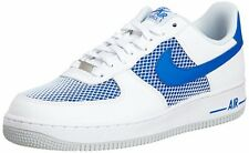 Nike Air Force 1 White / Blue / Platinum Mens Basketball Shoes 488298-150