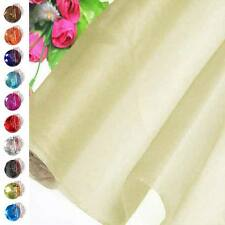 Ivory Sample/Half/Meter Pure Silk Organza Bridal Dress Fabric 140cm W +button