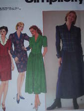 SIMPLICITY #7319- LADIES WINTER DROP WAIST - MULTI LENGTH DRESS PATTERN 8-24 uc