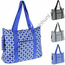 Large Canvas Tote Bag Weekend Overnight Gym Diaper Teacher Nurse Handbag Tennis