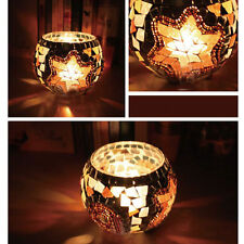 New Mosaic Glass Candle Holder Star Tealight Candlestick Home Party Bridal Décor