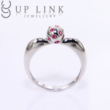 0.09CT 925 Sterling Silver White Gold Plated Swarovski Crystal Engagement Rings
