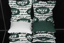 NEW YORK JETS Cornhole Bean Bags Set of 8 ACA Regulation Corn hole Toss Bags New