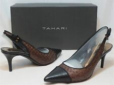 TAHARI Women's Rafaella Pump - Cafe/Black - Sz 6.5 Only NIB - MSRP $89