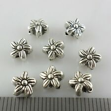 20/80/600pcs Tibetan Silver Flower Spacer Beads Crafts Jewelry Findings 5x6mm