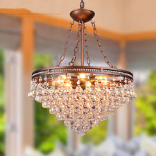 European Country Transparent Metal & Cystal Chandelier/Droplight/Hanging lamp