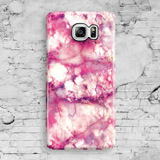 Pink Marble Pattern Cute White Granite Samsung Galaxy Note 3,4,5 Clip Case Cover