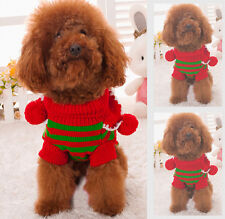 New Cute Dog Christmas Costume Pet Puppy Cat Sweaters Coats Clothes