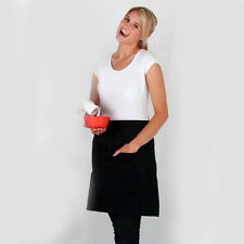 JUS | Plain Canvas Aprons Short Waist in Azure, Black, Navy, Red, Royal, White