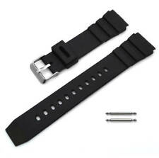 22mm Black Rubber Replacement Band Strap For Casio Sports & Marine Gear Watch