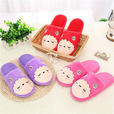 Men Women Sheep Slippers Soft Warm Plush Cotton Anti-slip House Indoor Shoes New