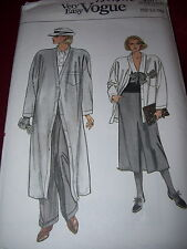 VOGUE #9201-LADIES CALF or THIGH LENGTH DUSTER-COAT-SKIRT & PANTS PATTERN 6-22FF