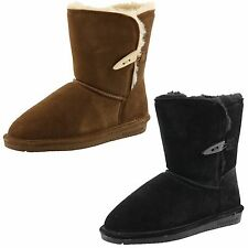 """YOUTH GIRLS BEARPAW ABIGAIL 8"""" 682Y SUEDE WINTER BOOTS"""